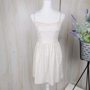 Eight Sixty Cream Lace Fit & Flare Dress